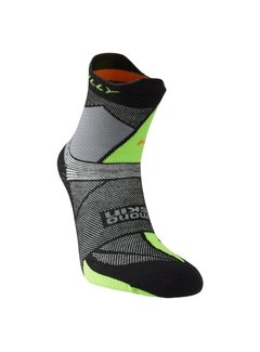 Hilly Hilly Ultra Marathon Fresh Single Trailrun Socken Schwarz / Grün