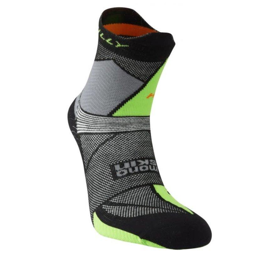 Hilly Ultra Marathon Fresh Single Trailrun Socken Schwarz / Grün