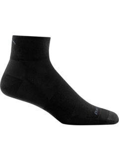 Darn Tough Darn Tough Pursuit 1/4 Ultra-Light Cusion Black Sports Socks Unisex