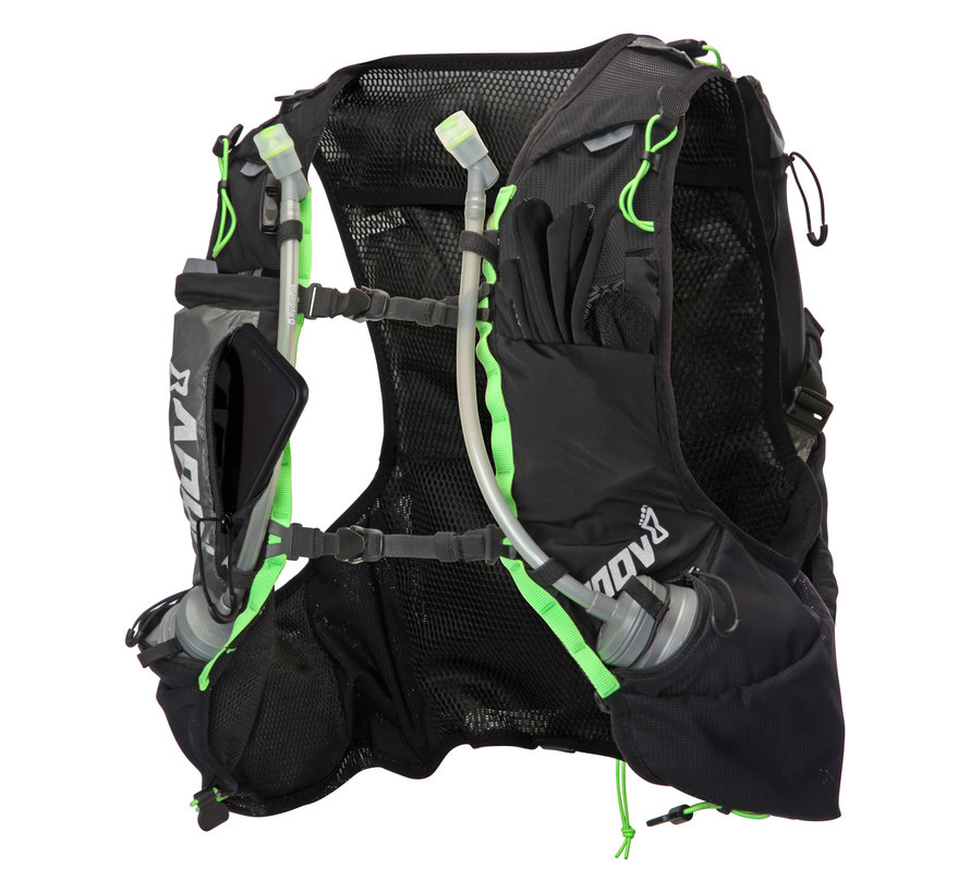 Inov-8 Race Ultra Pro 2-in-1 Vest Black / Green Unisex Trail running vest