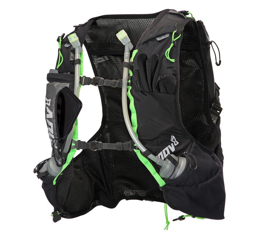 Inov-8 Race Ultra Pro 2-in-1-Weste Schwarz / Grün Unisex-Trailrunning-Weste