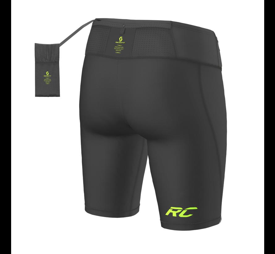 Scott RC Run Tight Shorts Heren Zwart/Geel