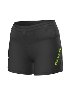 Scott Scott RC Run Tight Shorts Ladies Black / Yellow