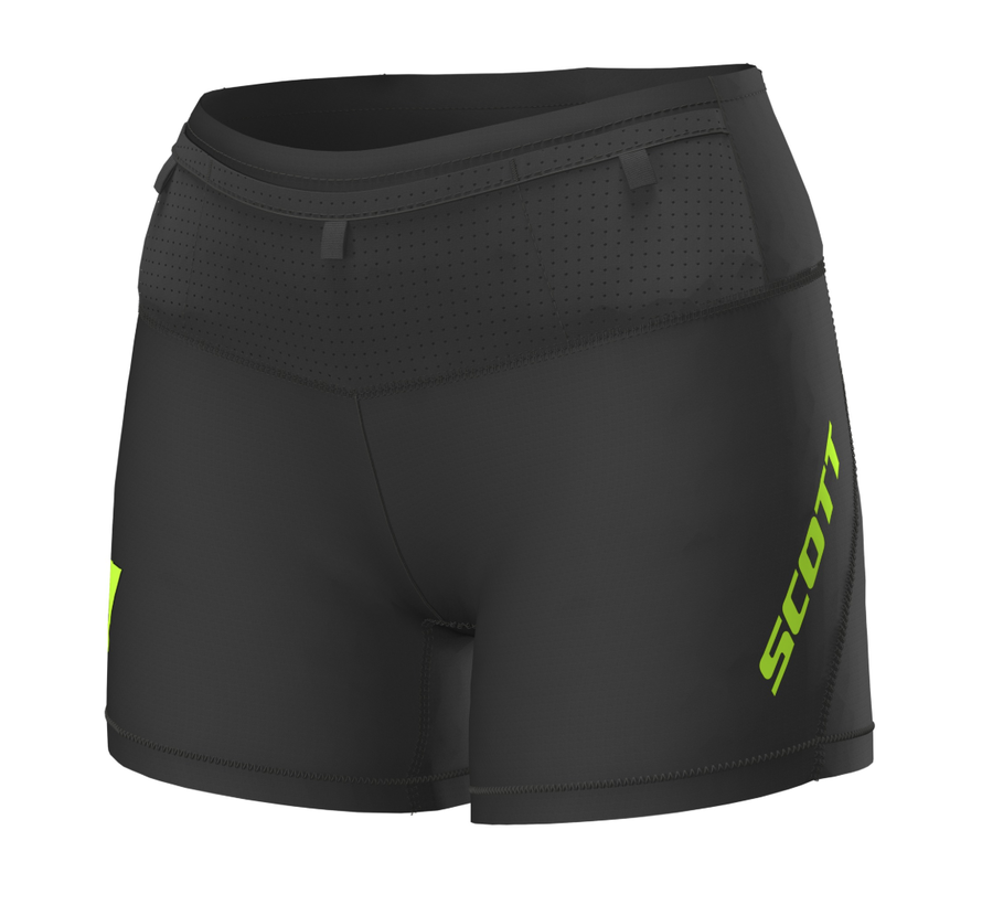 Scott RC Run Tight Shorts Damen Schwarz / Gelb