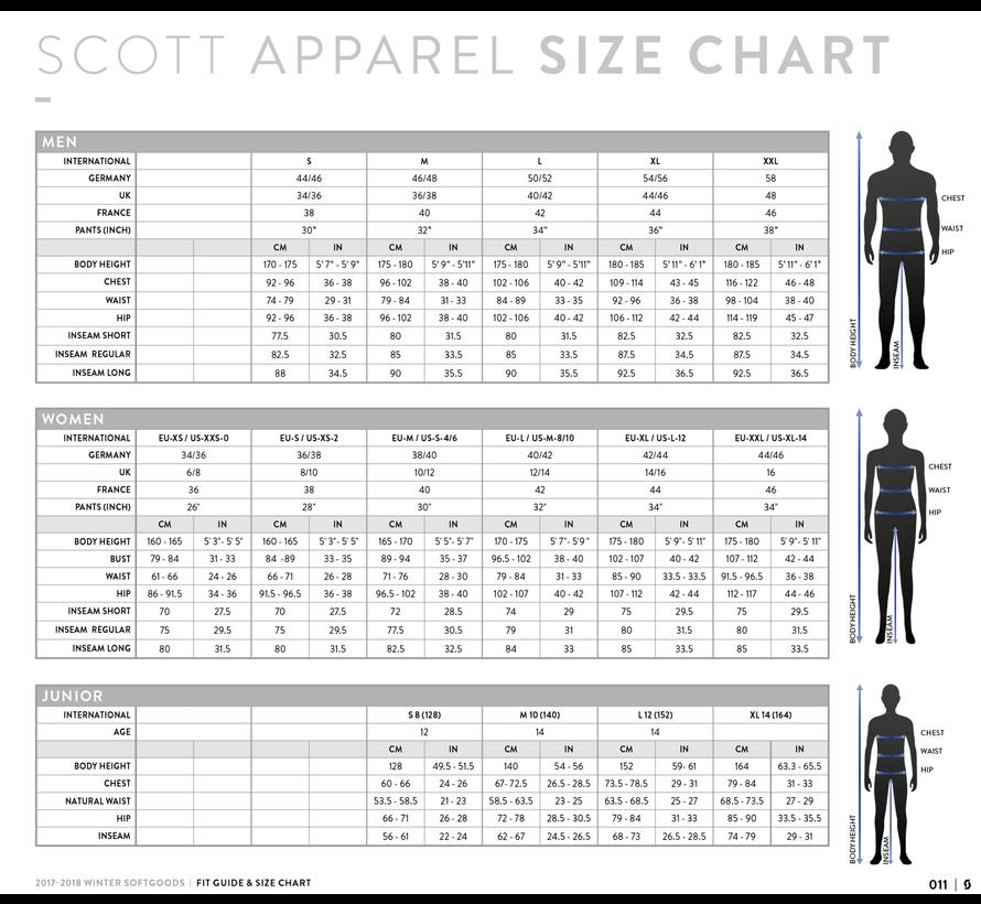 Scott RC Run Tight Shorts Dames Zwart/Geel