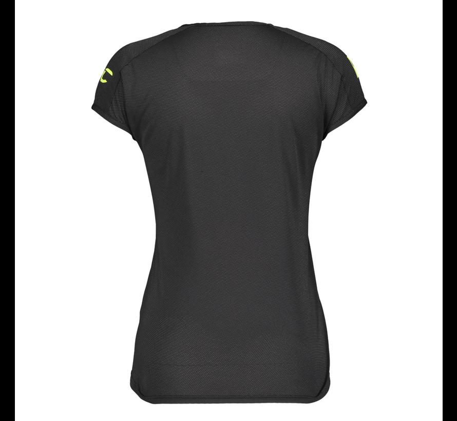 Scott Promo Run T-Shirt Trail Run Dames Zwart/Geel