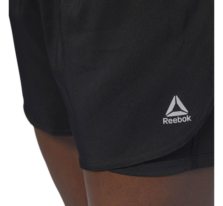 Reebok Running 2-in-1 Short Ladies Black
