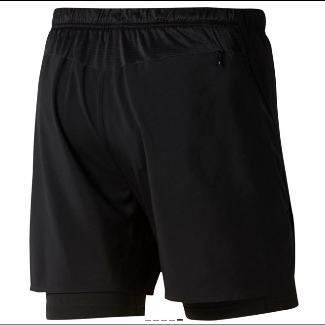 Reebok Run Essentials 2-in-1 Short Heren Zwart