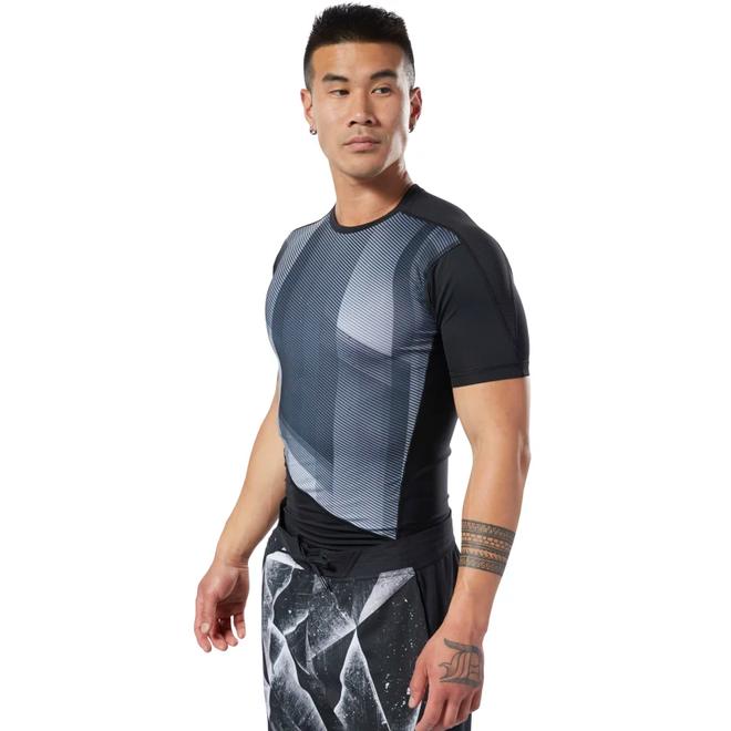 Reebok One Series Trainings-Kompressions-T-Shirt Herren Schwarz