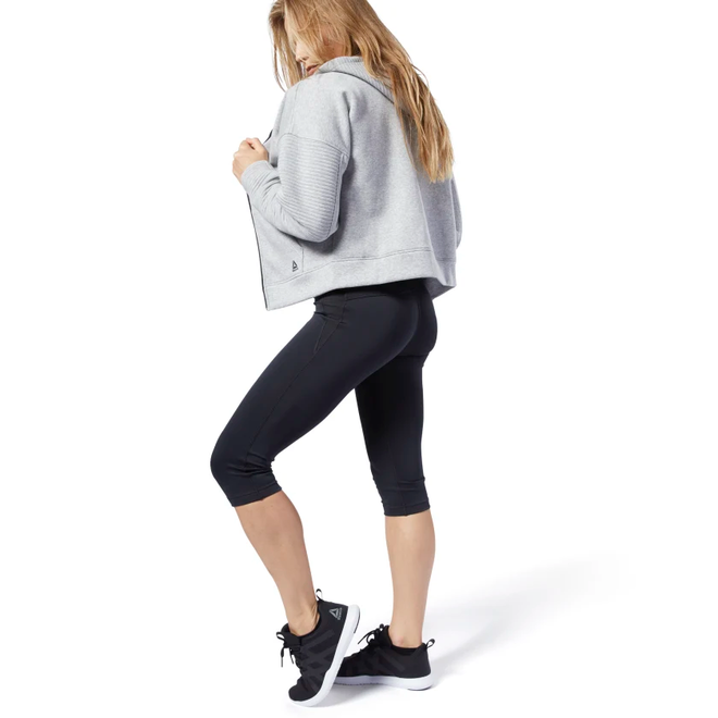 Reebok Workout Ready Capri Dames Zwart