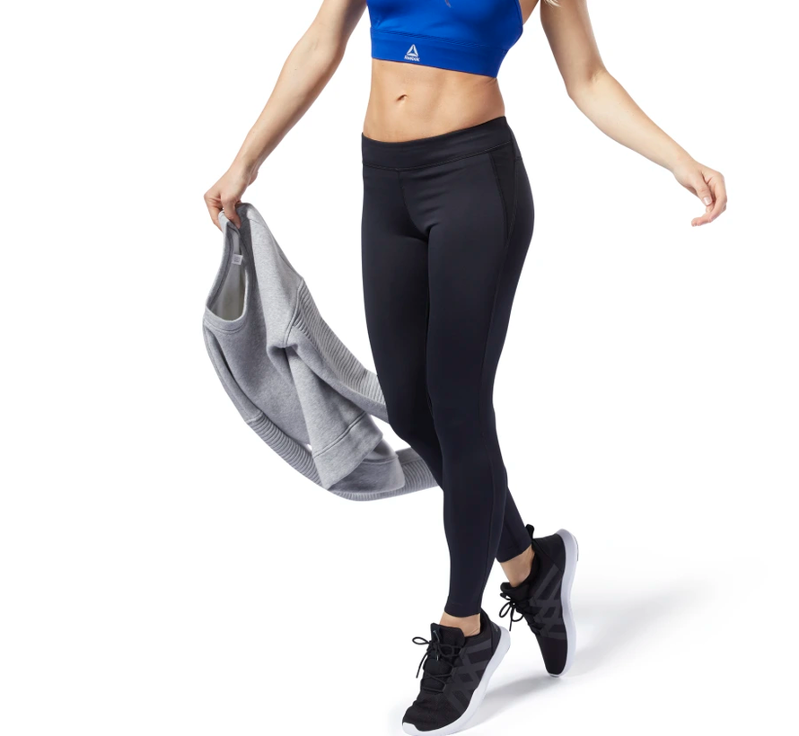 Reebok Workout Ready Legging Dames Zwart