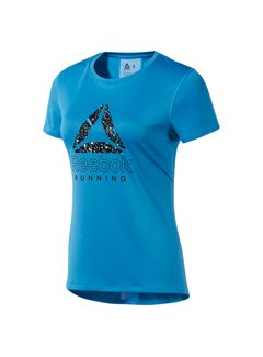 Reebok Reebok Running Essentials Graphic T-Shirt Blauw