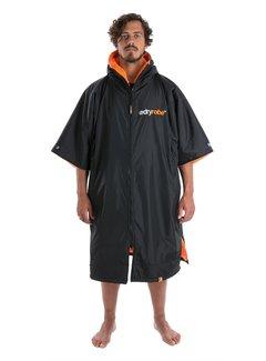 Dryrobe Dryrobe Advance Shortsleeve Zwart/Oranje