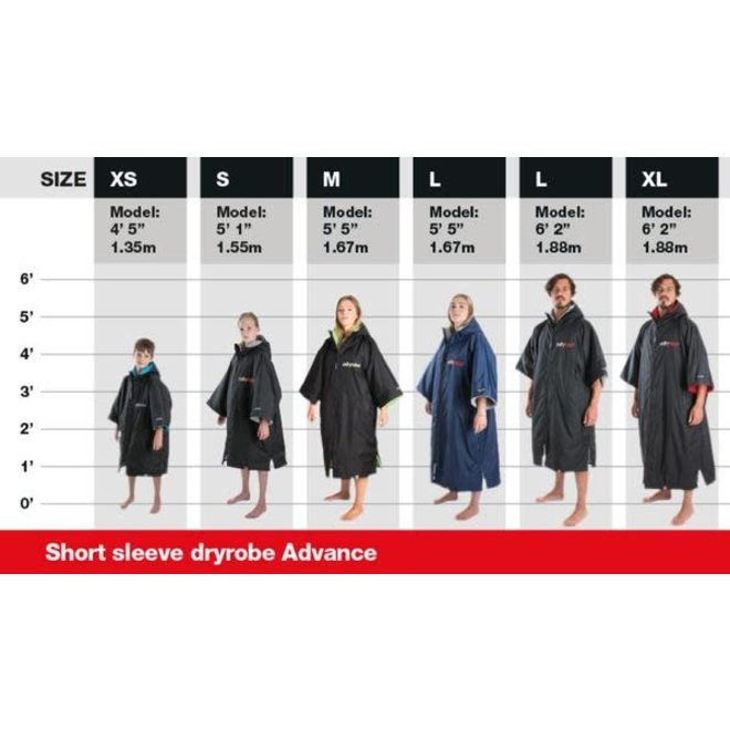 Dryrobe Advance Shortsleeve Zwart/Oranje