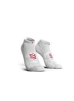 Compressport Compressport Pro Racing Socks V3.0 Run Low Smart White Hardloopsokken