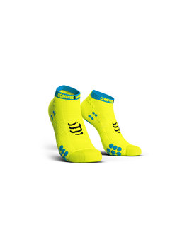 Compressport Compressport Pro Racing Socks V3.0 Run Low Fluo Yellow Hardloopsokken