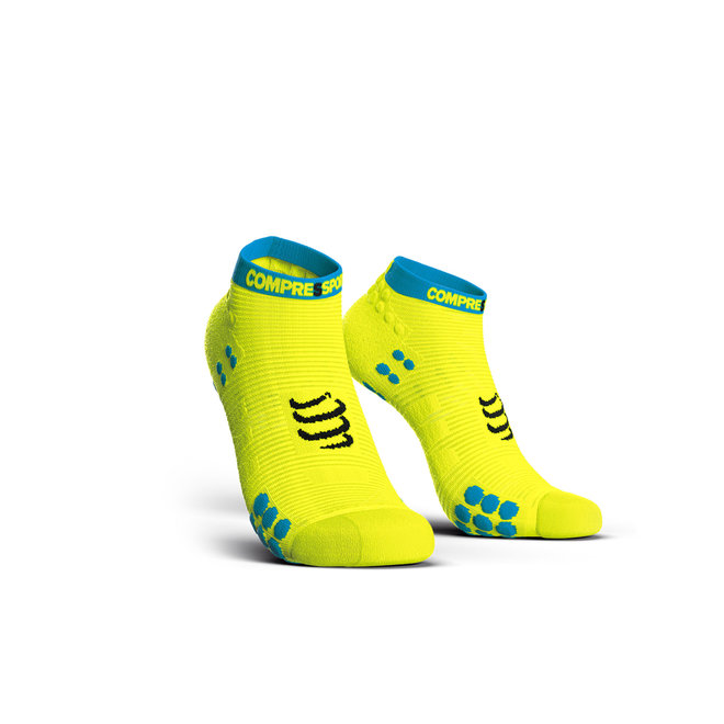 Compressport Pro Racing Socks V3.0 Run Low Fluo Yellow Hardloopsokken