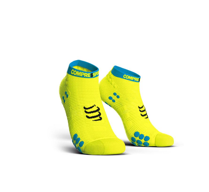 Compressport Pro Racing Socks V3.0 Run Low Fluo Yellow Hardloopsokken