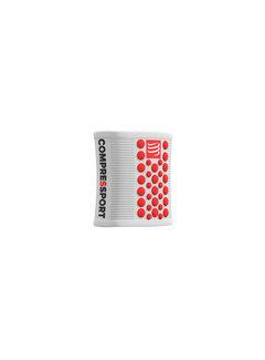 Compressport Compressport Sweatbands 3D Dots White/Red Zweetband