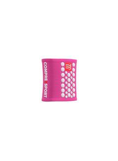 Compressport Compressport Schweißbänder 3D Dots Pink / White Schweißband