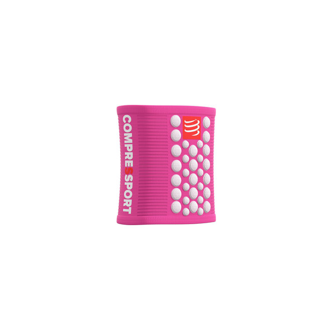 Compressport Sweatbands 3D Dots Pink/White Zweetband