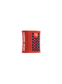 Compressport Compressport Sweatbands 3D Dots Blood Orange/Blue Zweetband