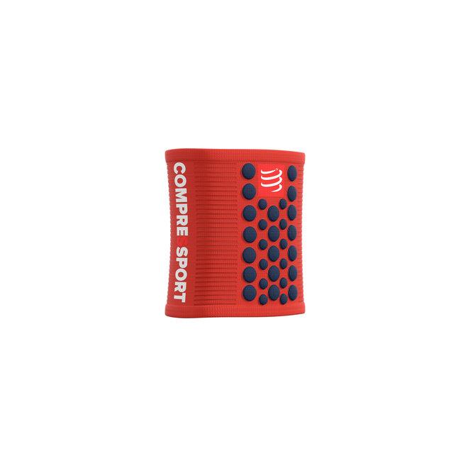 Compressport Sweatbands 3D Dots Blood Orange/Blue Zweetband