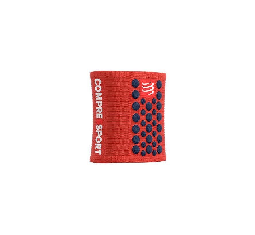 Compressport Schweißbänder 3D Dots Blood Orange / Blue Schweißband