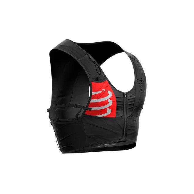 Compressport Ultrun S Pack Racevest Unisex Zwart (Inclusief 2 softflasks)
