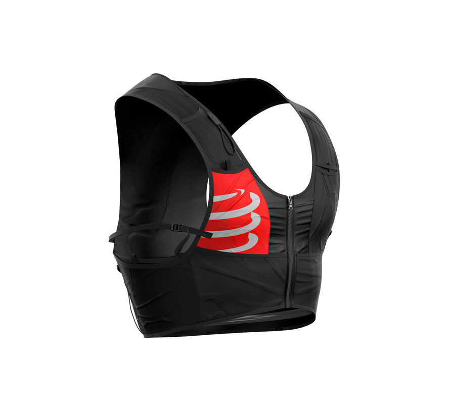 Compressport Ultrun S Pack Race Weste Unisex Schwarz (Inklusive 2 Softflaschen)