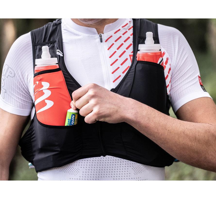 Compressport Ultrun S Pack Racevest Unisex Zwart (Inclusief 2 softflasks)