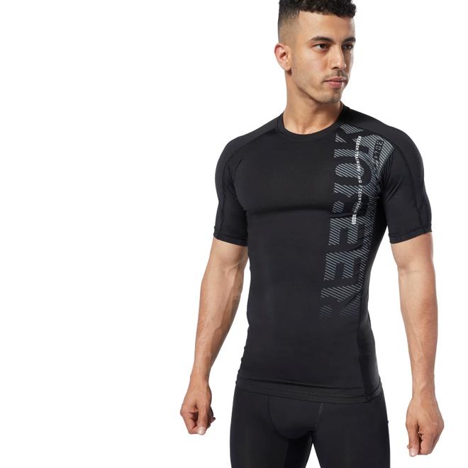 Reebok One Series Training Compression Shirt Men Black