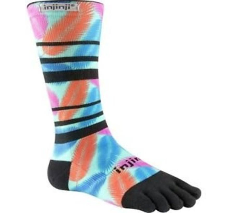 Injinji Run Leichte Crew Xtralife Tropical Toe Socken