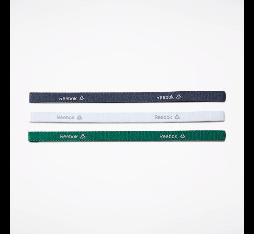 Reebok One Series Smalle Hoofdband (3-pack) Blauw/Wit/Groen