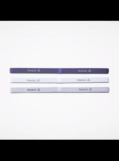 Reebok Reebok One Series Narrow Headband (3-pack) White / Purple
