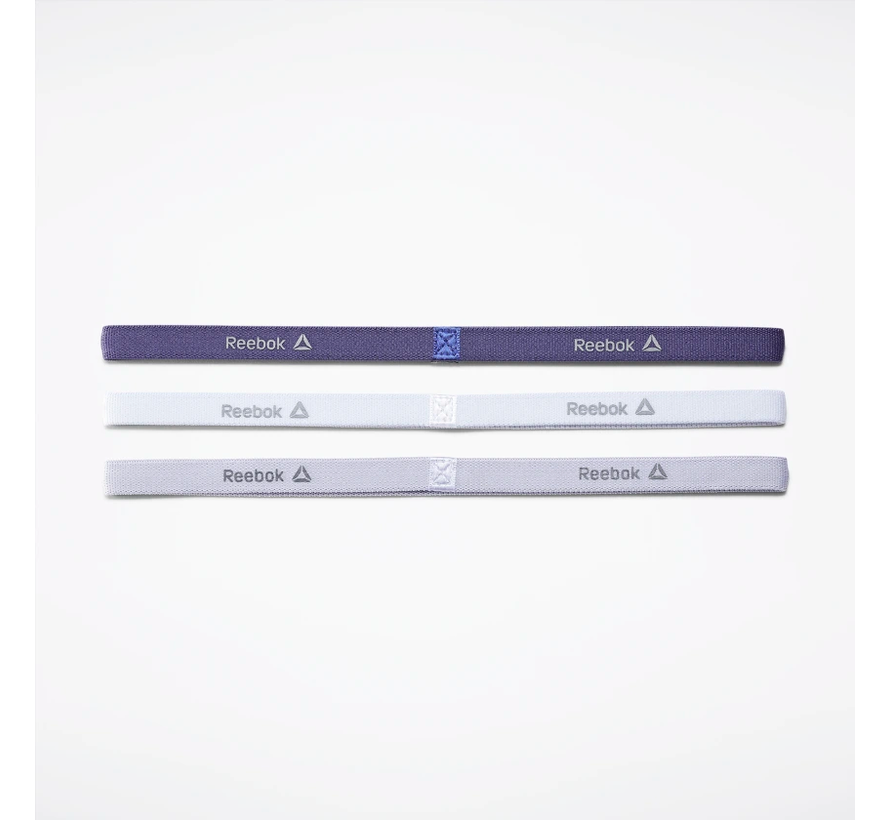 Reebok One Series Narrow Headband (3-pack) White / Purple