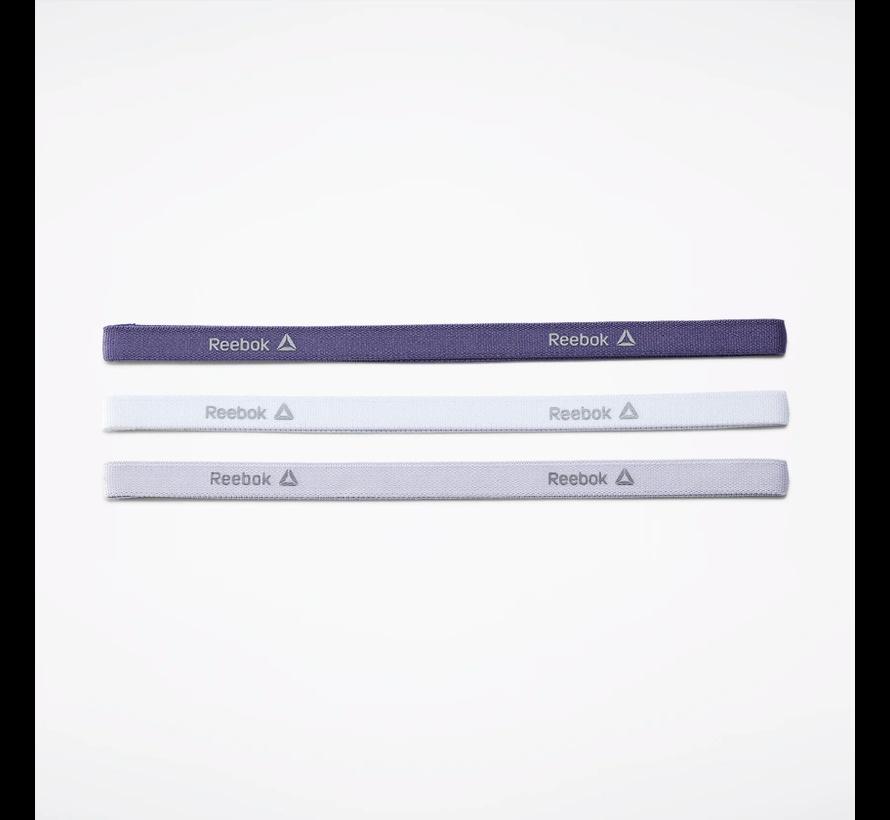 Reebok One Series Smalle Hoofdband (3-pack) Wit/Paars