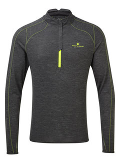 Ron Hill Ron Hill Stride Thermal Half Zip Long Sleeve Men Gray