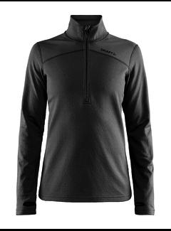 Craft Craft Pin Half Zip Fleece Midlayer Black Ladies