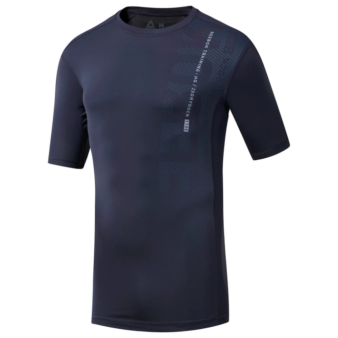 Reebok One Series Training Compression Shirt Men Navy