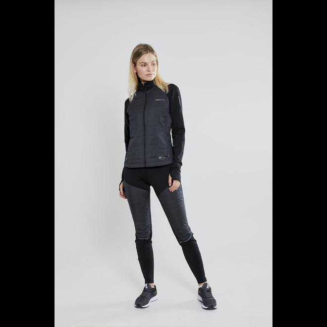 Craft SubZ Jacket Dames Zwart Gevoerde Hardloopjas