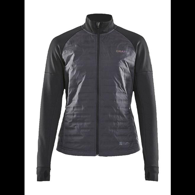 Craft SubZ Jacket Ladies Black Lined Running Jacket