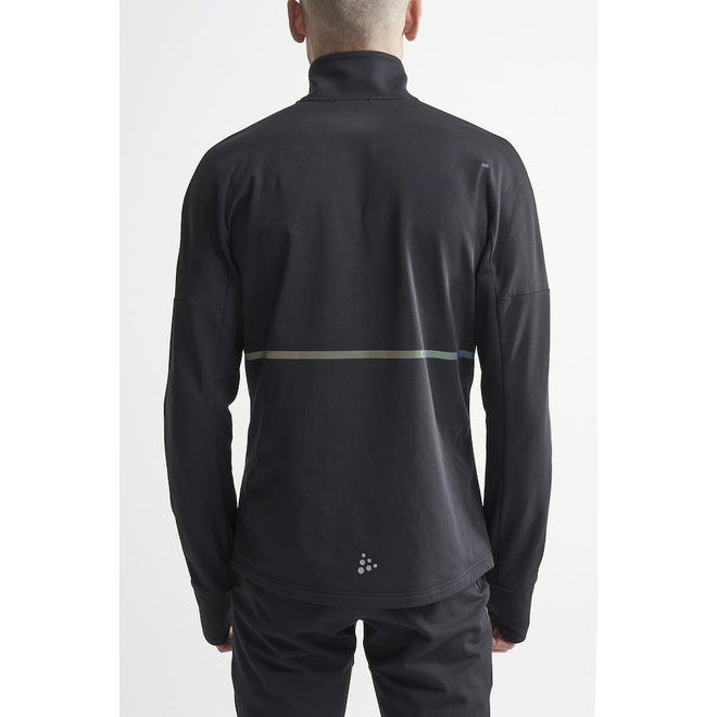 Craft SubZ Jacket Heren Zwart Gevoerde Hardloopjas