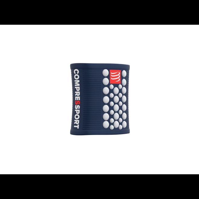 Compressport Schweißbänder 3D Dots Blau / Weiß Schweißband