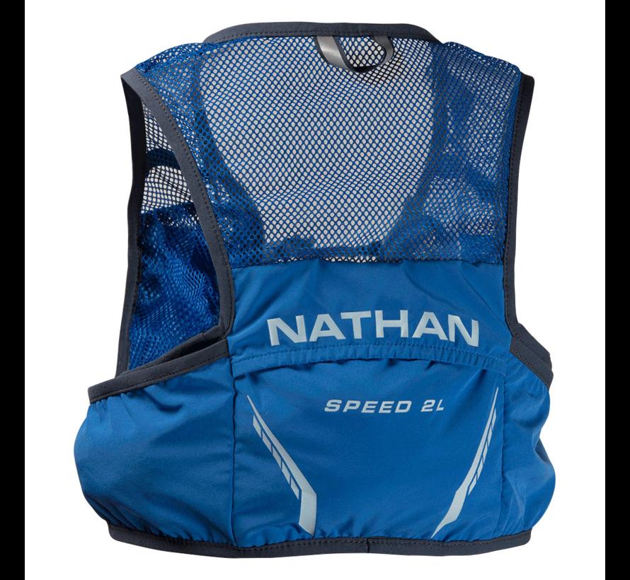 Nathan Vapor Speed 2 Liter Racevest Blauw (inclusief softflasks)