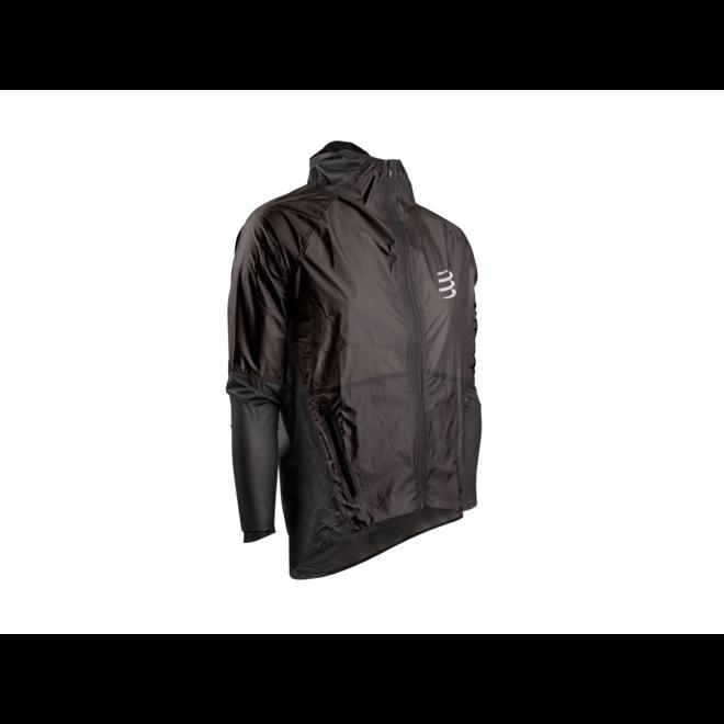 Compressport Hurricane Waterproof Jacket 25/75 Laufjacke Unisex Schwarz