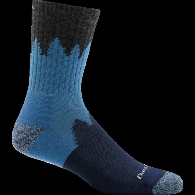 Verdammt harte Nummer Micro Crew Cushion Walking Socken Charcoal Merino