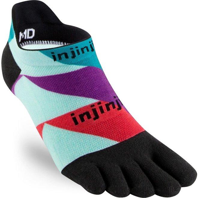 Injinji Run Lightweight NoShow Toe Socks Levels