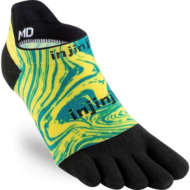 Injinji Run Lightweight NoShow Toe Socks Marble