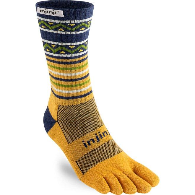 Injinji Trail Midweight Crew Coolmax Dijon Toe Socks